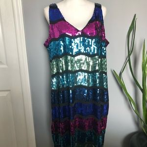 Snap Sequin Mini Dress
